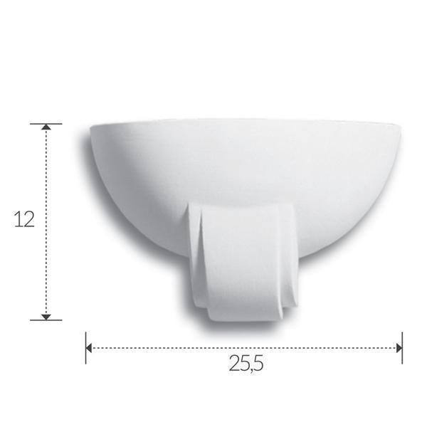Profilo lineare in gesso da incasso per strip led canalina - Applique in gesso da parete ...