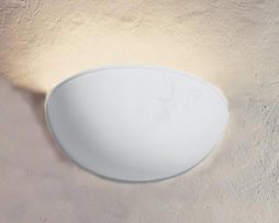 Applique in gesso lampada parete moderno attacco e coppa art
