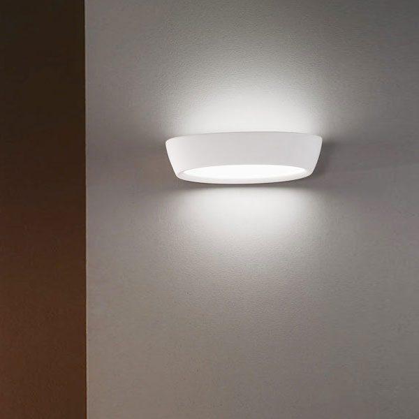 Applique in gesso 2 e14 con doppio vetro csf400 luceled - Applique in gesso da parete ...