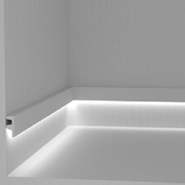 cornice in gesso per alloggio strip led luce diffusa art
