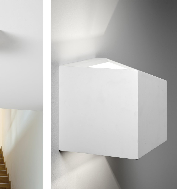 Sforzin applique da parete in gesso cubo philius small - Applique in gesso da parete ...
