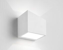 Sforzin applique da parete in gesso cubo philius small t luca