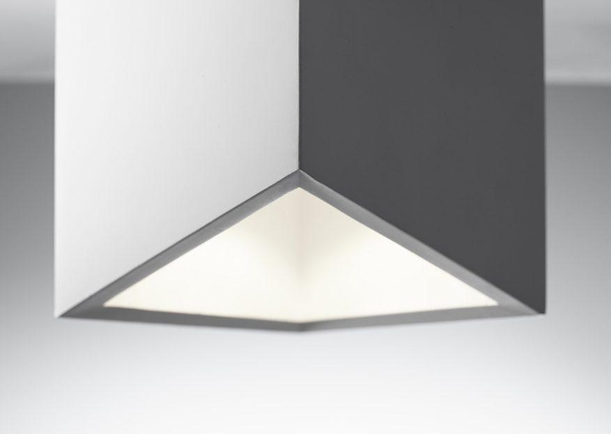 Sforzin lampada da soffitto in gesso cubo philius pl t u luceled