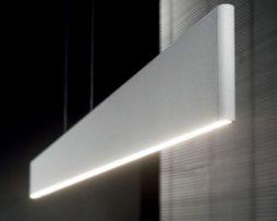 Lampadario Bianco Opaco : Ideal lux lampadario desk sp in alluminio bianco opaco w led