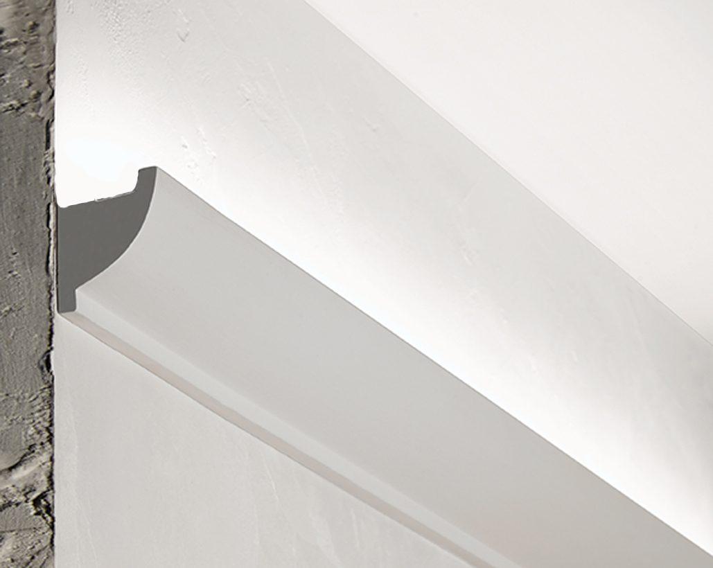 Popolare 3 metri CORNICE PER LED IN GESSO PER ILLUMINAZIONE INDIRETTA WT81