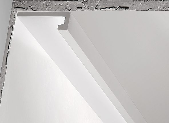 Metri cornice per led in gesso per illuminazione indiretta