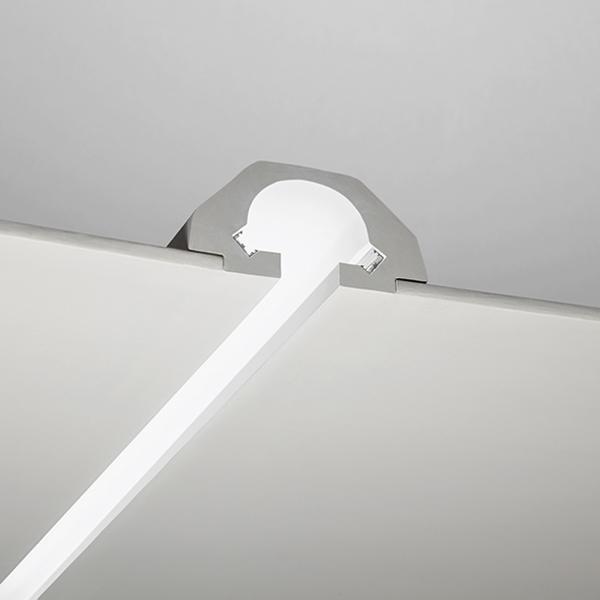 3 metri PROFILO PER LED IN GESSO TAGLIO LUCE PER DOPPIA STRISCIA LED ART.59 – Luceled