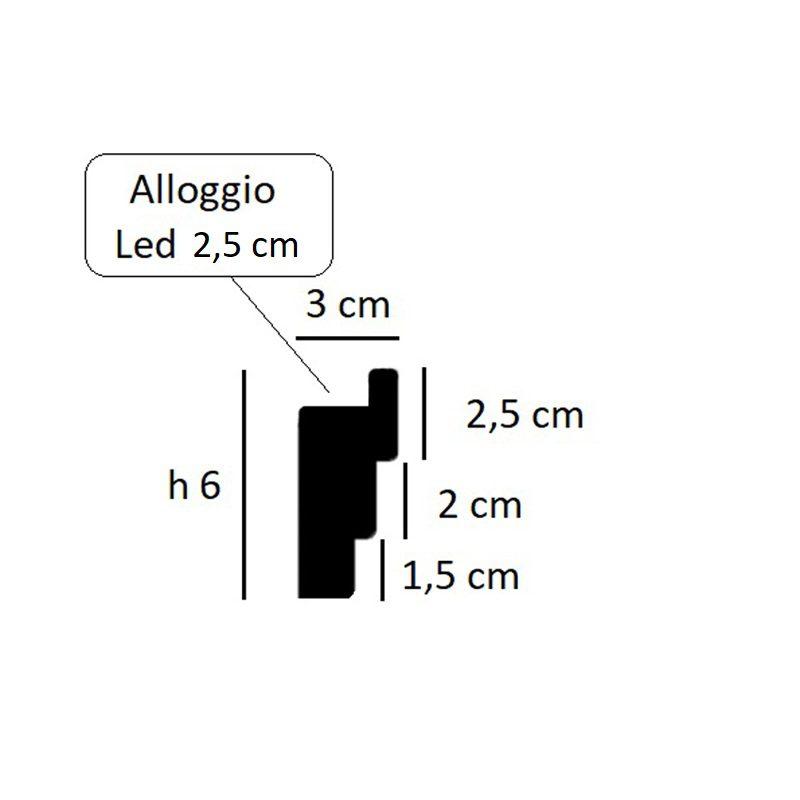 4 cornice per led in gesso per illuminazione indiretta 6 for Cornici per strisce led