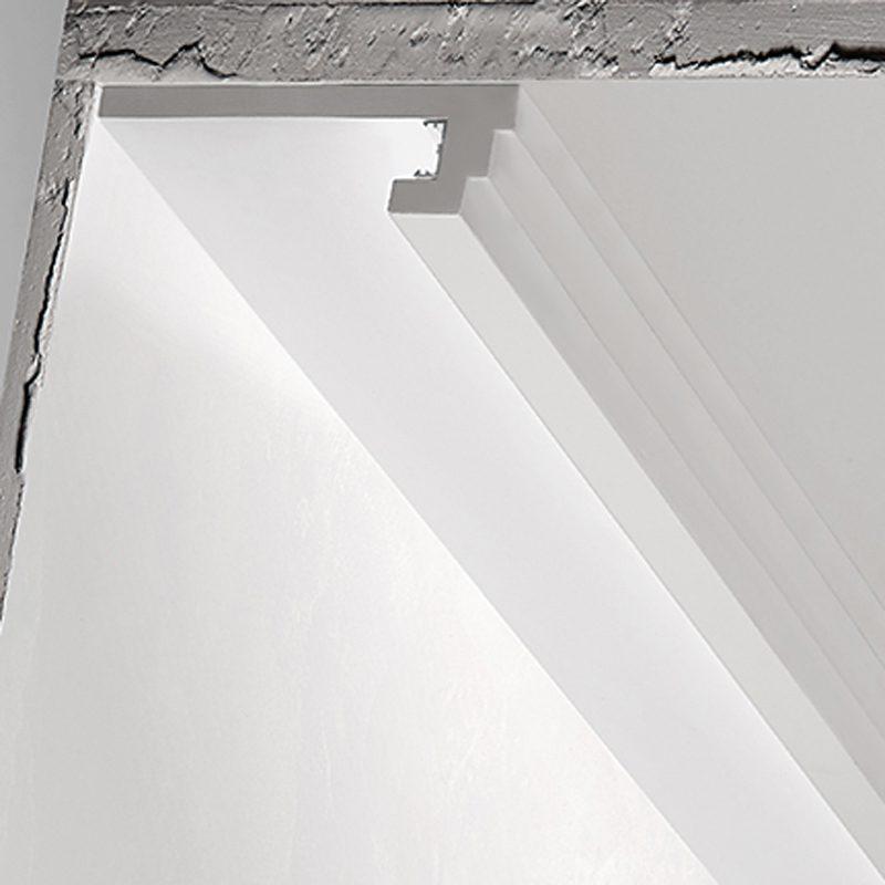 Illuminazione Led A Soffitto.3 Metri Cornice Per Led In Gesso Illuminazione Indiretta Per Soffitto Ds5013