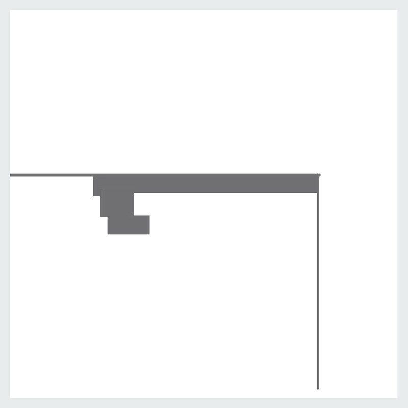 2 cornice per led in gesso illuminazione indiretta per for Cornici per strisce led