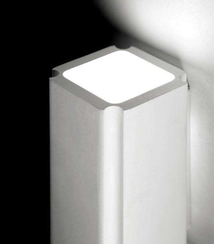 Sforzin applique da parete in gesso biemissione sicyon t203 luca artioli luceled - Applique in gesso da parete ...
