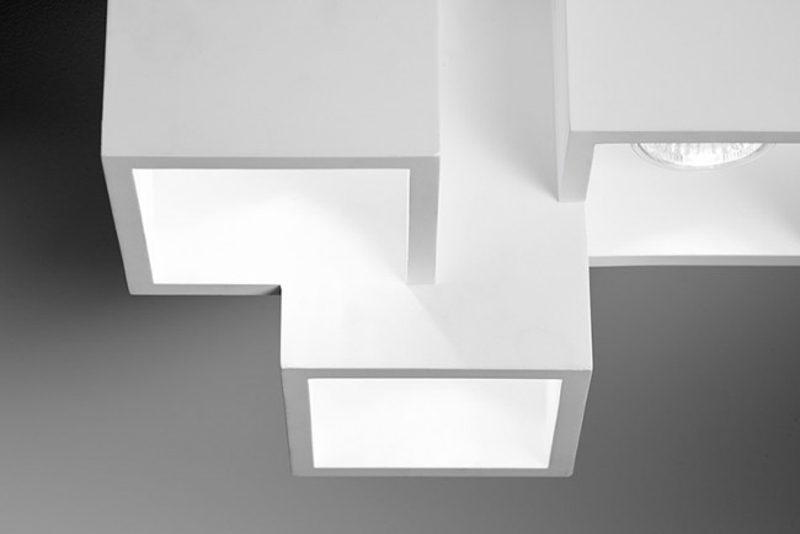Sforzin lampada da soffitto in gesso heraea t marco spatti