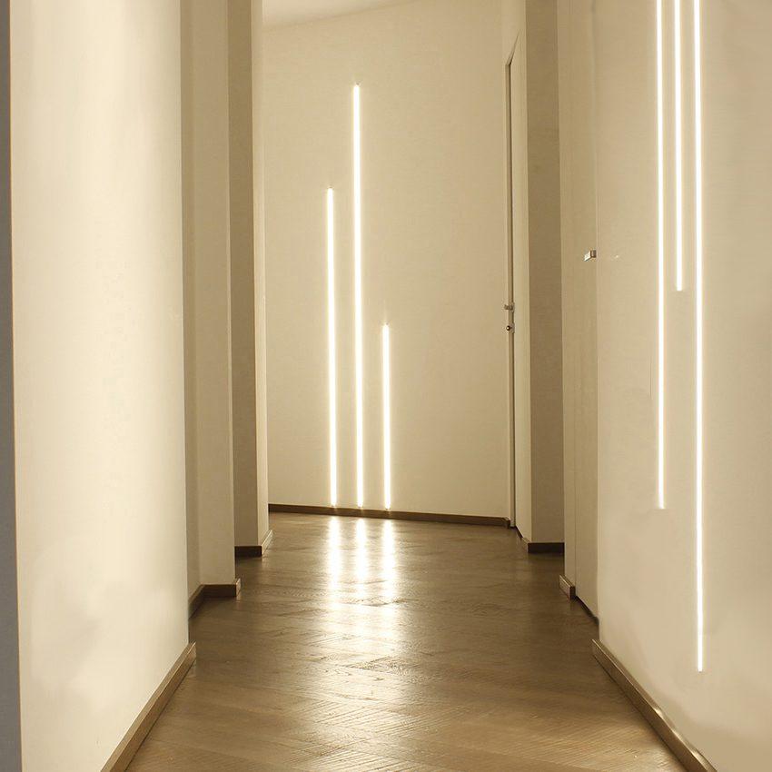 3 METRI PROFILO LINEARE IN GESSO PER TAGLIO LUCE LED 350SLIM H 1,3 cm