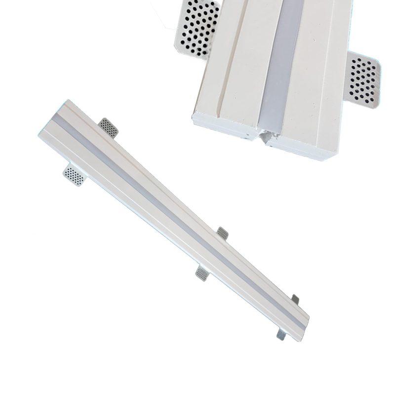 3 Metri Profilo Lineare In Gesso Per Taglio Luce Led Ds4018 Luceled