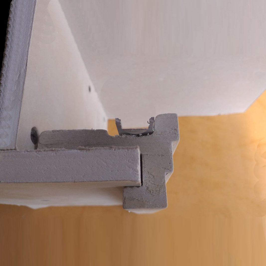 Veletta Cartongesso Con Led 3 metri cornice in gesso per installazione su veletta in cartongesso ds5023