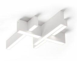 Sforzin lampada da soffitto in gesso magnesia t277 blank design