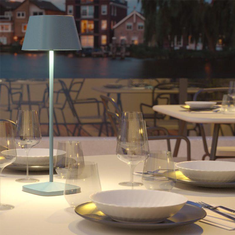 Lampada Da Tavolo Led La Nuit 2021 Batteria Ricaricabile Con Base Ip65 Luceled