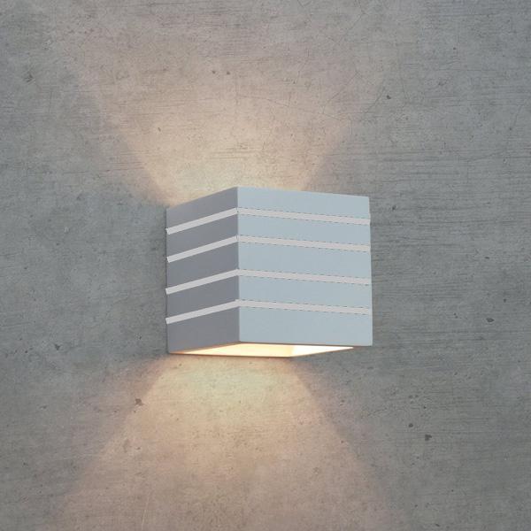 Applique in gesso lampada a parete moderno attacco g9 cubo - Applique in gesso da parete ...