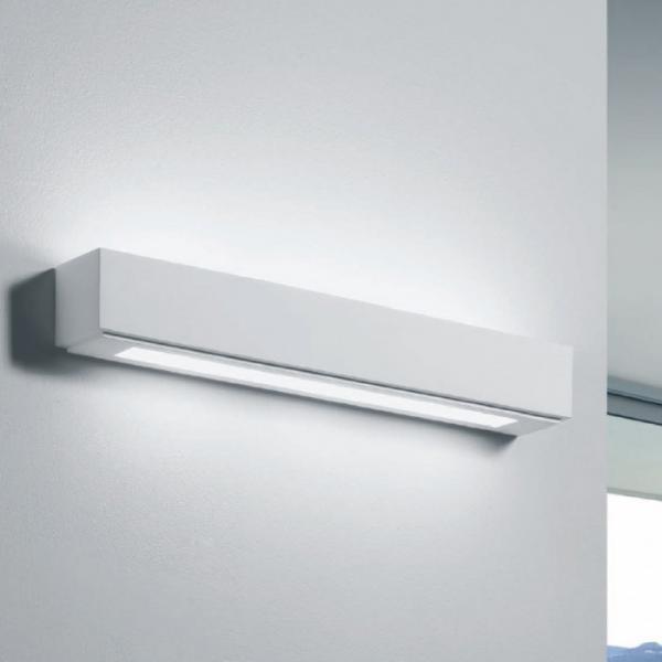 Applique in gesso verniciabile lampada da parete con 3 - Applique in gesso da parete ...