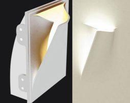 Lampada in gesso applique moderno con portalampada e a muro
