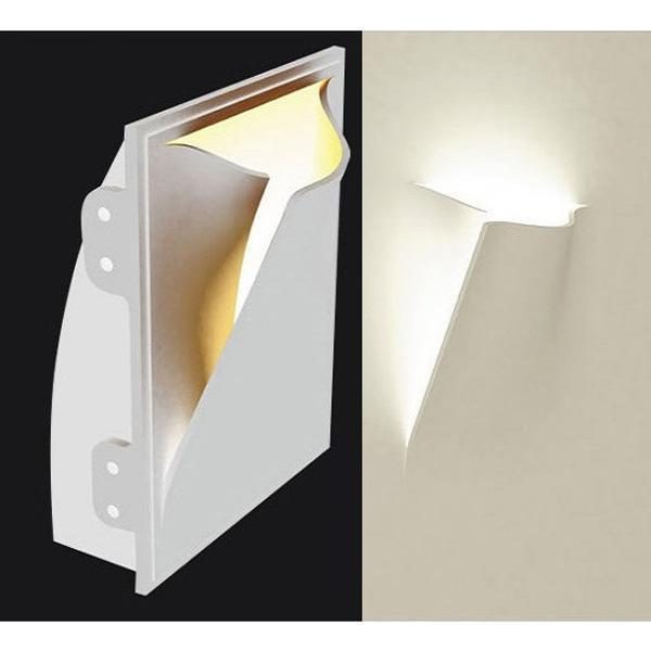 Lampada in gesso applique moderno con portalampada e27 a for Applique muro