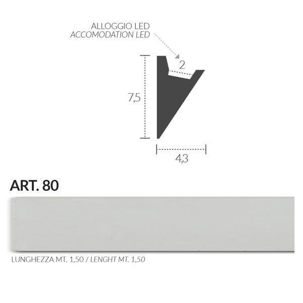 Cornice angolare in gesso illuminazione indiretta da for Cornici per strisce led
