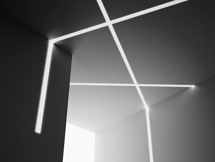 Plafoniera Led Da Incasso : Profilo a t in gesso da incasso per strip led effetto taglio luce
