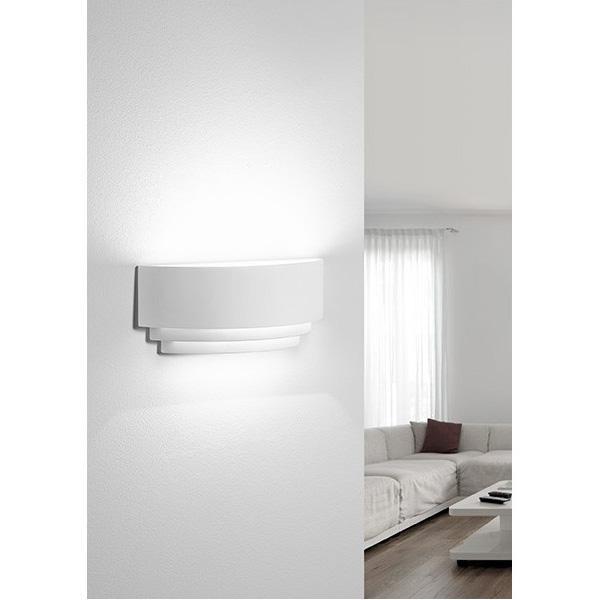 Applique in gesso lampada a parete moderno attacco e27 3 for Applique economiche