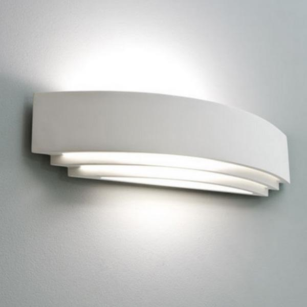 Applique in gesso lampada a parete moderno attacco e27 3 - Applique in gesso da parete ...