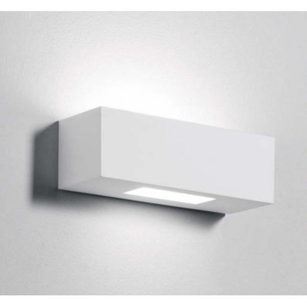 Profilo lineare in gesso da incasso per strip led effetto - Applique in gesso da parete ...