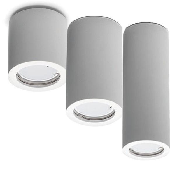 Porta faretto in gesso lampada a plafone moderno gu10 - Tubo porta poster ...