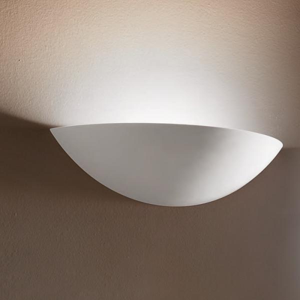 Applique in gesso lampada parete moderno attacco e27 coppa - Applique in gesso da parete ...