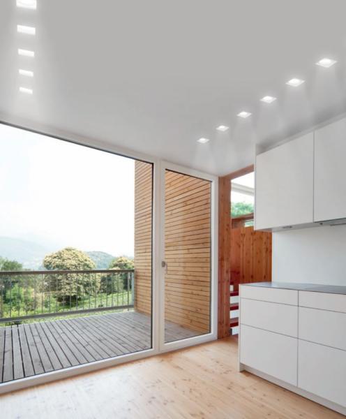 Porta faretto da incasso in gesso a scomparsa quadrato con vetro per faretti csf080 luceled - Portapentole da soffitto ...
