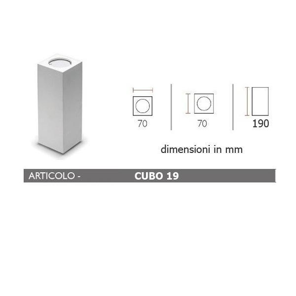 Faretti In Gesso Dimensioni.Porta Faretto In Gesso Lampada A Plafone Moderno Gu10 Plafoniera Cubo 4 Misure Art Cubo7 11 13 19