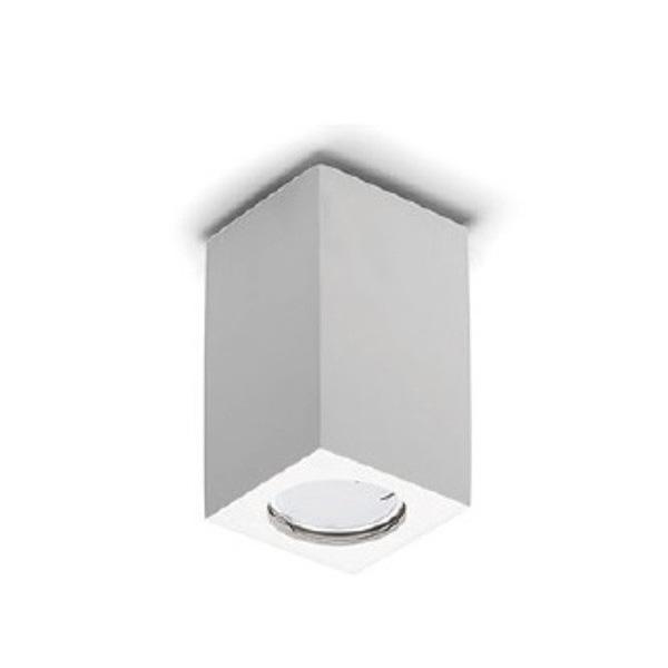 PORTA FARETTO IN GESSO LAMPADA A PLAFONE MODERNO GU10 PLAFONIERA CUBO 4 MISURE Art.Cubo7/11/13 ...