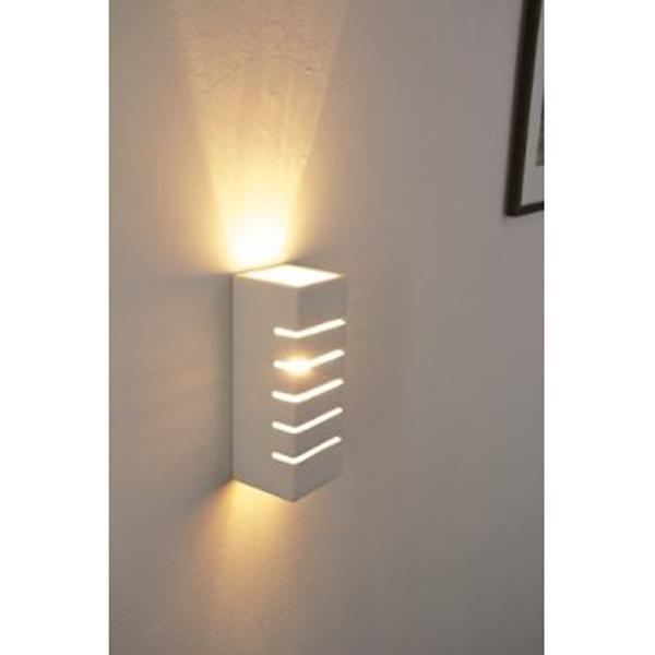 Applique in gesso lampada a parete moderno attacco g9 5 - Applique in gesso da parete ...